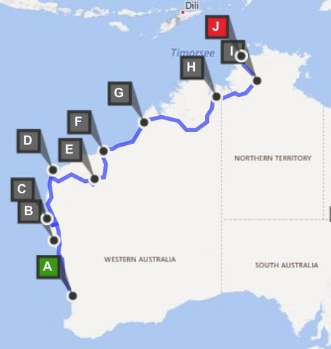 Perth nach Darwin