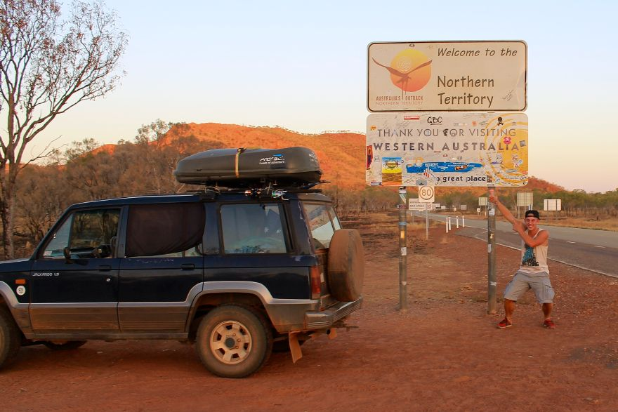 Grenze Western Australia Northern Territory